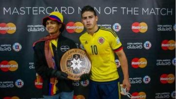 Хамес Родригес – лучший игрок встречи между Колумбией и Перу