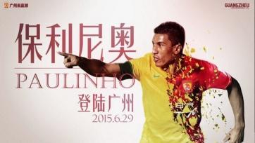Официально: Паулиньо перебрался в «Гуанчжоу»