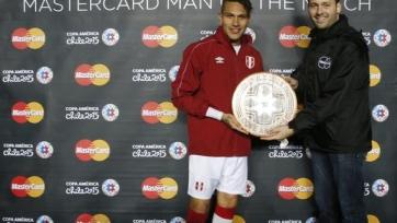 Герреро – лучший игрок матча за третье место на Кубке Америки