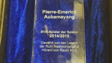 Пьер-Эмерик Обамеянг признан лучшим игроком «Боруссии» в прошедшем сезоне