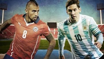 Стартовые составы Чили-Аргентина