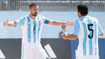 ЧМ. Пляжный футбол. Аргентина и Сенегал забили на двоих семь мячей