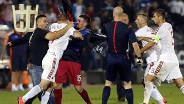 Спортивный арбитражный суд назначил Сербии техническое поражение в матче с Албанией