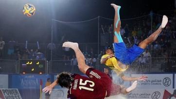 ЧМ. Пляжный футбол. Бразилия обыграла Испанию