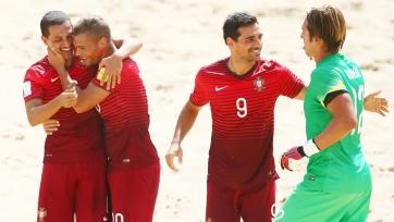 ЧМ. Пляжный футбол. Португалия громит Швейцарию и попадает на Россию