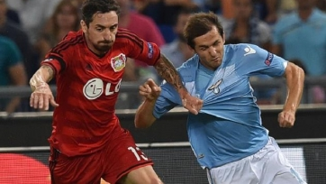 «Лацио» празднует успех в матче с «Байером»