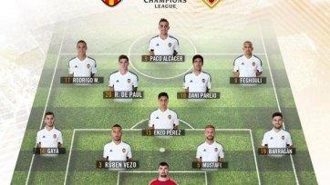 Стал известен состав «Валенсии» на матч против «Монако»