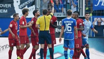 «Бавария» в меньшинстве вырвала победу в матче с «Хоффенхаймом»
