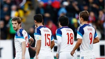 Футболисты сборной России соберутся вместе в понедельник