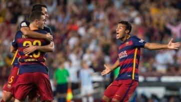 «Барселона» со скрипом одолела «Малагу»