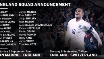 Рой Ходжсон объявил состав сборной Англии
