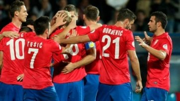 Сербия уверенно переиграла Армению
