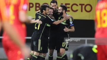 Испанцы обыграли на выезде Македонию