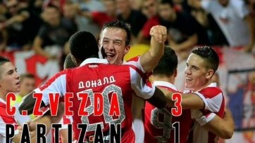 Белградское дерби завершилось в пользу «Црвены Звезды»