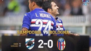 «Сампдория» в отложенном матче третьего тура обыграла «Болонью»