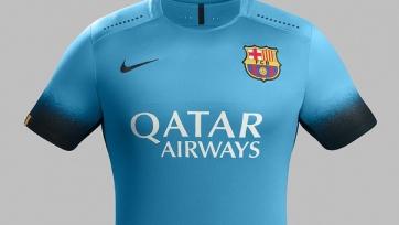 Новый комплект формы «Барселоны» цвета - электрик блю