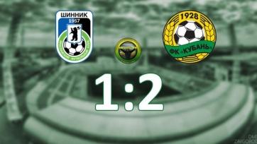 «Кубань» вторым составом обыграла «Шинник»