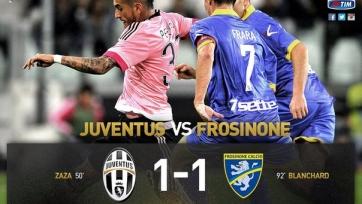 «Ювентус» не сумел обыграть «Фрозиноне»
