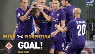 Хет-трик Калинича вывел «Фиорентину» на первое место в чемпионате