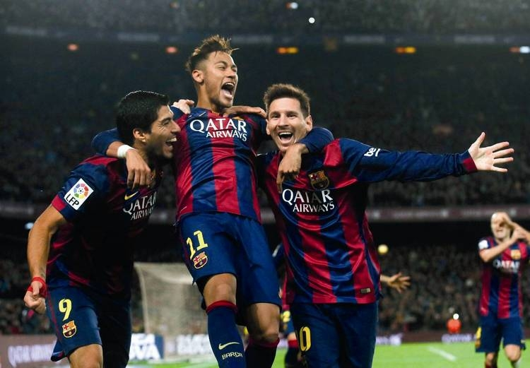 А теперь представь: «Барселона» будет играть в Лиге 1