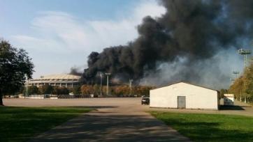 В столице загорелся стадион «Лужники»