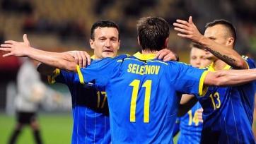Сборная Украины переиграла македонцев