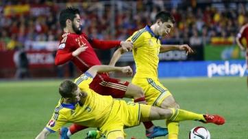 Сборная Украины уступила испанцам