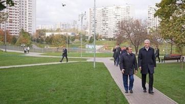 Собянин: «Жители Москвы иногда негативно реагируют на строительство футбольных площадок»