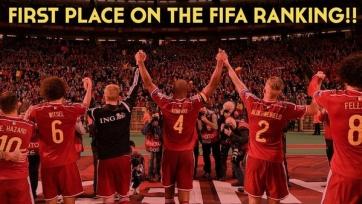 Бельгия выходит на первое место в рейтинге ФИФА