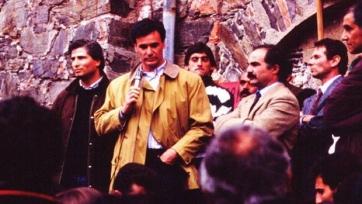1991-й год, Раньери и Франческоли (сзади него) на шахте Монтевеккио