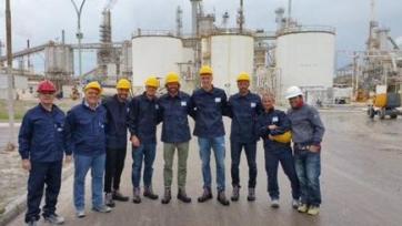 Футболисты «Кальяри» побывали на крупнейшем алюминиевом заводе в Европе