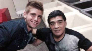 Антуан и Диего Марадона