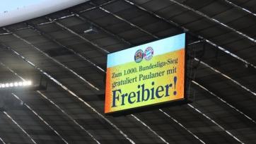 «Бавария» угостила пивом в честь тысячной победы