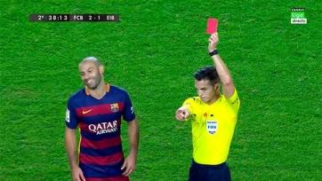 Хавьер Маскерано может быть дисквалифицирован на четыре матча