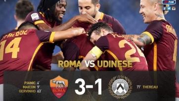«Рома» уверенно переиграла «Удинезе»