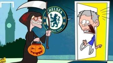 Фанаты «Челси» поддерживают Моуринью