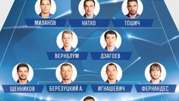 Стартовые составы матча «Манчестер Юнайтед» - ЦСКА