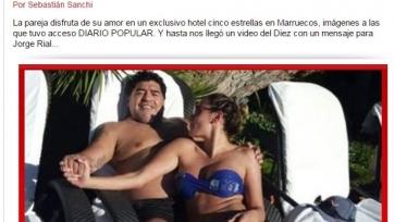 Диего Марадона отдыхает в Марокко