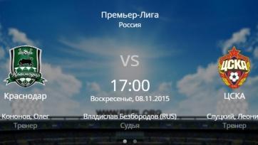 «Краснодар» и ЦСКА объявили стартовые составы
