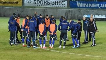 Сборная Украины тренируется в полном составе