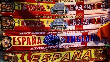 Стартовые составы встречи между Испанией и Англией