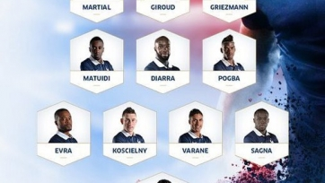 Стали известны стартовые составы к матчу между Францией и Германией