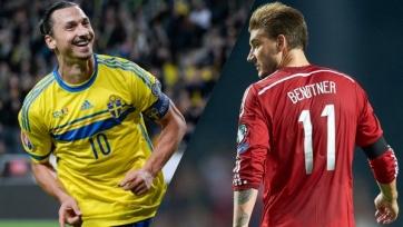 Стартовые составы Швеция – Дания