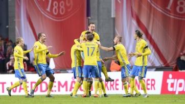Швеция не удержала победу в Копенгагене, но вышла на Чемпионат Европы