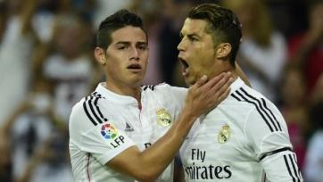 Хамес Родригес пародирует Роналду на тренировке. Как «Реал» готовится к матчу с «Барселоной» (видео)