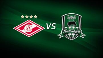 Стали известны стартовые составы на матч «Спартак» - «Краснодар»