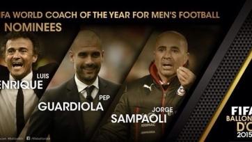 Луис Энрике, Гвардиола и Сампаоли – претенденты на приз лучшему тренеру года