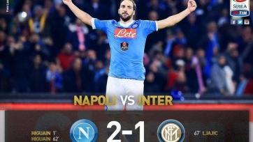 «Наполи» обыграл «Интер» и возглавил турнирную таблицу