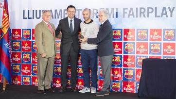 Хавьер Маскерано получил приз фэйр-плей «Барселоны»