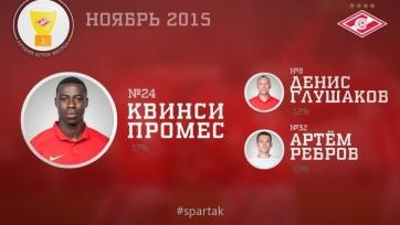 Квинси Промес – лучший игрок «Спартака» в ноябре